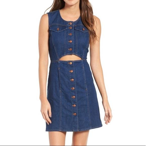 e2e2a6a3c6d Madewell Dresses   Skirts - Madewell Denim Button Front Cutout Dress